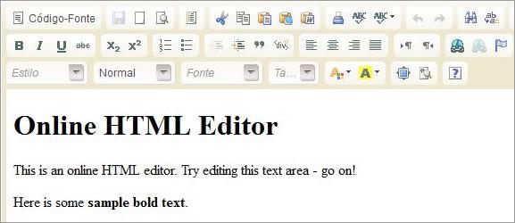 Editor de HTML Online
