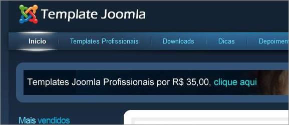 Como alterar o topo do template Joomla