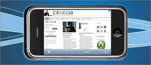site no celular