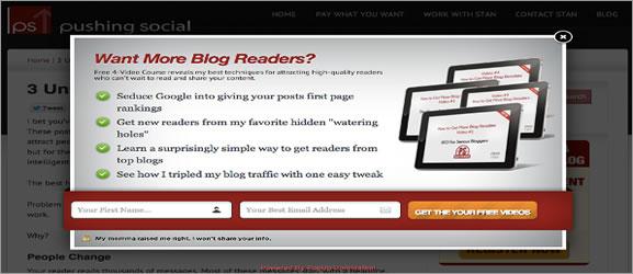 7 Popups em javascript para seu site