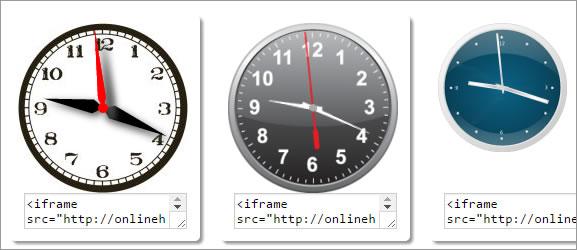 Colocar relógio no site