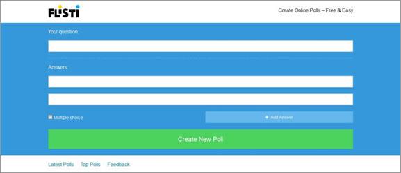 Flisti – Criar enquete online