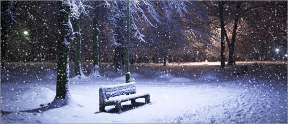 Nevando em seu site